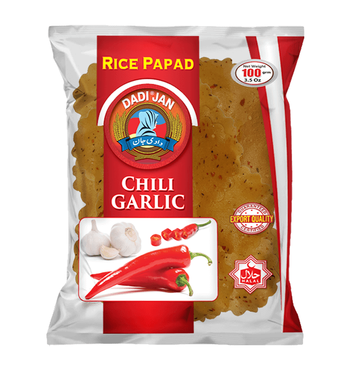 Chili Garlic Rice Papad