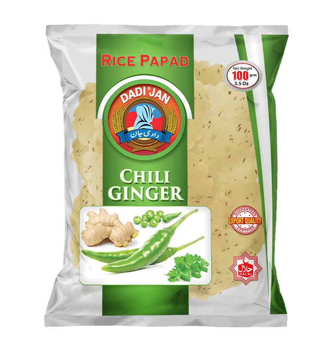 Chili Ginger Rice Papad