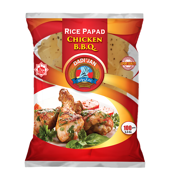 Chicken B.B.Q Rice Papad