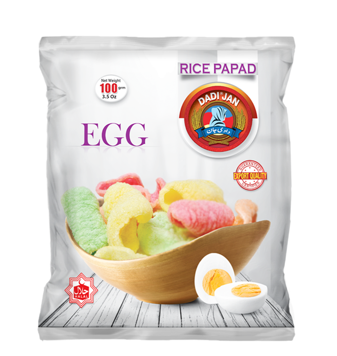 Rice Papad Egg