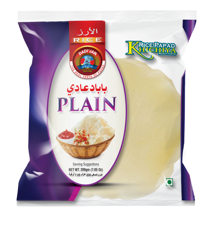 Plain Khichiya Rice Papad