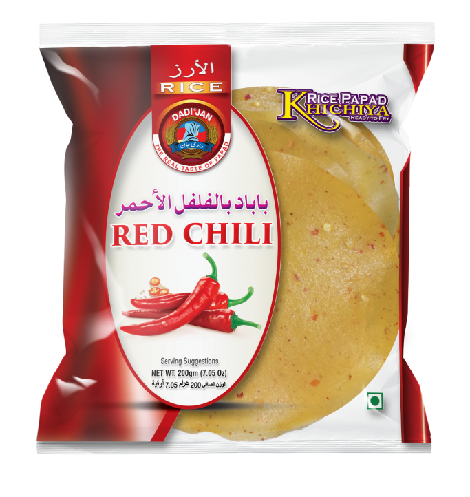 Red Chili Khichiya Rice Papad