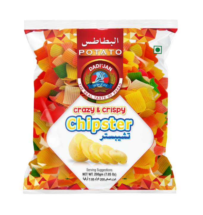 Colored Crinckle Chipster