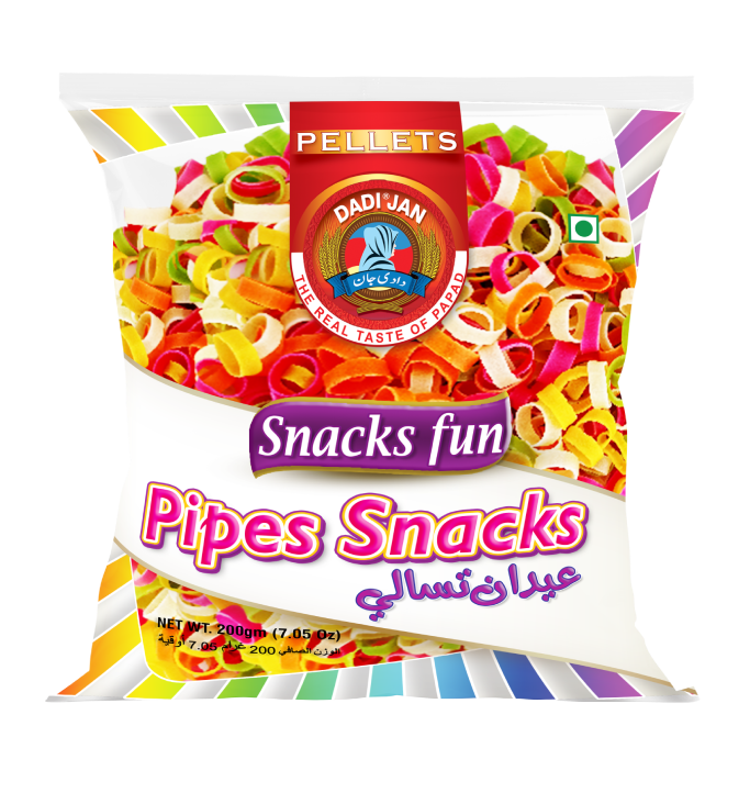 Colored Washer Pipes Snacks